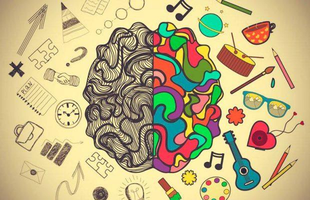 Psicologia na UCPel: arte de cérebro, remete à criatividade.