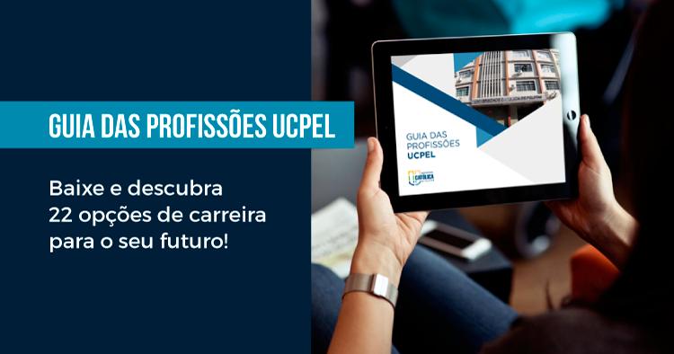 Guia das profissões UCPel - Baixe e descubra 22 opções de carreira para o seu futuro!