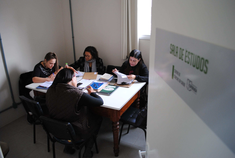 Sala de estudos do curso de Psicologia
