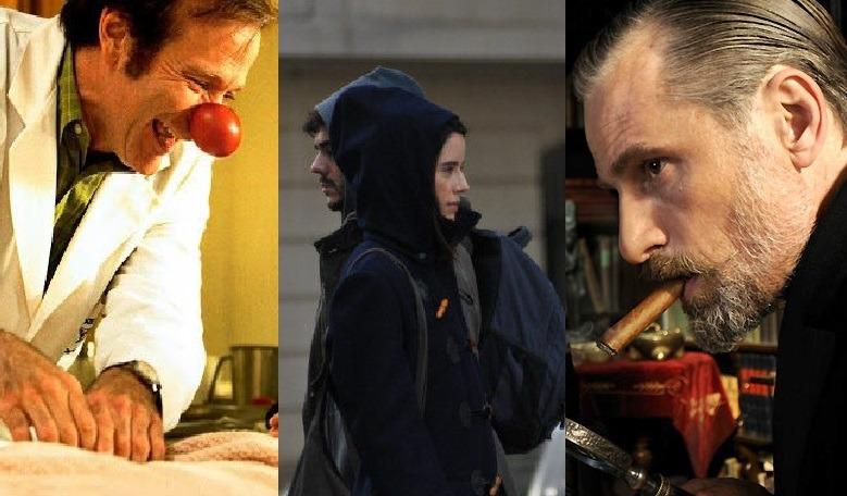 Cenas de três filmes que serão apresentados posteriormente no texto