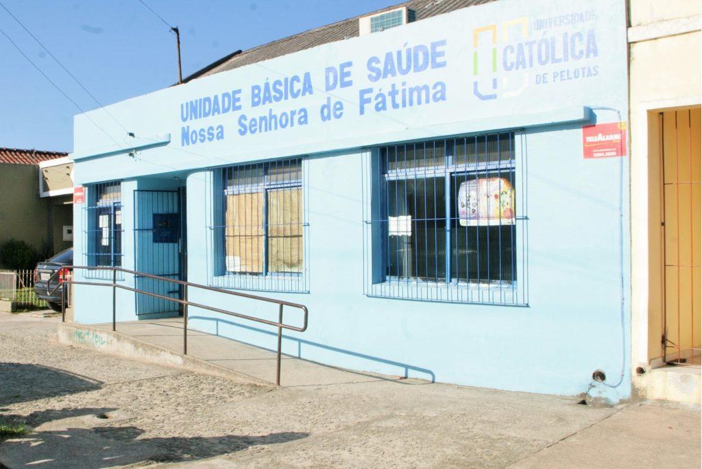 Fachada da UBS Fátima, gerenciada pela UCPel